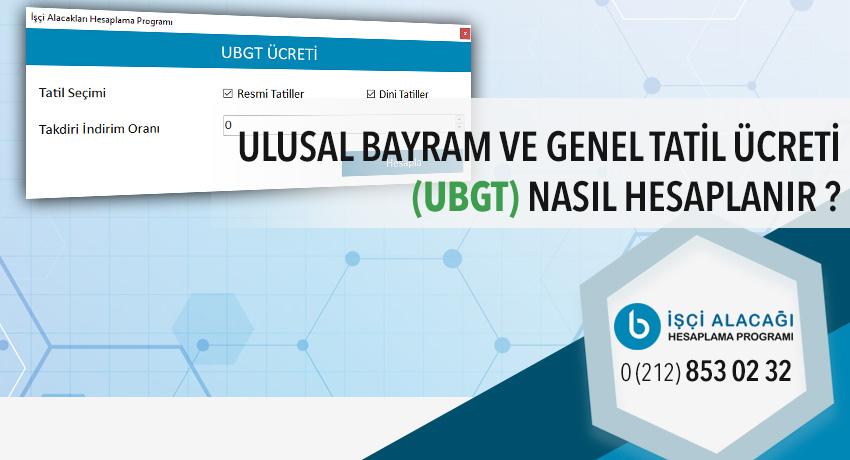 UBGT Hesaplama programı